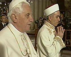 Pape dans mosquée Islam
