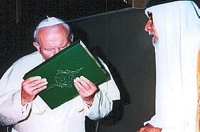 Pape et Coran Islam