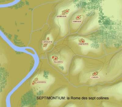 rome septimonium sept collines