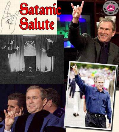 Le salut satanique de George W. Bush